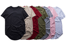 T-shirts rock homme en Ligne-Mode hommes étendu t-shirt à la mode hip hop tee shirts femme justin bieber swag vêtements harajuku rock tshirt homme