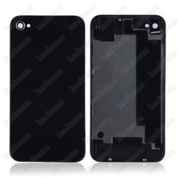 Wholesale Iphone 4s Back Glass Covers - 200pcs Back Glass Full Housing Back Cover Battery Cover with Flash Diffuser for iPhone 4 4s
