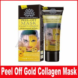 Wholesale Gold Collagen Face Mask Wholesale - Gold Collagen Mask Lot Black Face Mask Peeling Off Blackhead Remover Face Mask Facial Skin Care