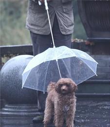 Nouveau parapluie ensoleillé chaud de protection pluie chien de compagnie parapluie de mode ont un tring pour marcher le chien J127B ? partir de fabricateur