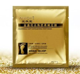 Wholesale Wholesale Exfoliating Foot Mask - 1000 Pairs 24K Gold Revitalizing Exfoliating Softening Feet mask Removes Cuticles callus Dead cells foot care In stock