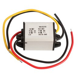 Wholesale 12v 9v Converter - Wholesale-1 PCS Car Charger DC Converter Module 12V To 9V 2A 18W DC To DC Buck Step Down Module free shipping