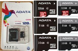 Wholesale Adata Tf - ADATA 20PCS LOT 100% REAL 128GB 64GB 32GB 16GB 8GB Class10 MicroSDHC TF SD Card Android Powered SmartPhones Cameras Up 80MB s EVO+