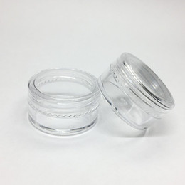 Canada 5Gram Cosmetic Plastic Jar Clear Base Cream Pot vide pot d'échantillons 5ML Mini bouteille en plastique Nail Art Glitter Powder Container Case Offre