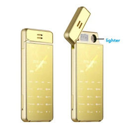 Wholesale Spy Mini Phone - 2017 new arrival free shipping full metal touch screen luxury cellphone unlocked electronic lighter mini fashion cell phone spy phone
