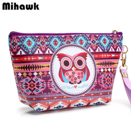 Wholesale owl organizer - Wholesale- Girl's Cute Owl Cosmetic Bag Travel Organizer Functional Makeup Pouch Case Beautician Toiletry Kit Accessories Supply Products