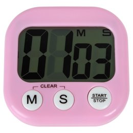 Wholesale Magnetic Kitchen - HOT SALE Large LCD Digital Kitchen Cooking Timer Loud Alarm Magnetic Count Down   Up Stop watch LIF_502