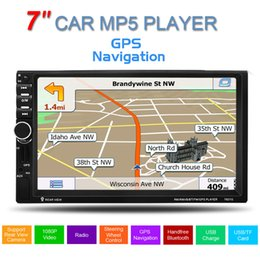 Wholesale Monitor Mp5 - GPS 7inch Touch Screen Support Hands-free calls Car Stereo MP5 Player FM USB SD TF Bluetooth Radio + Map CMO_21D