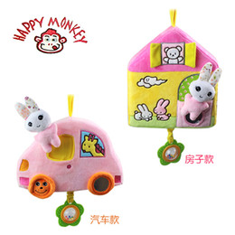 baby rattle ring Canada - Wholesale- 27cm Baby Rattles Mobile Toy house car ring bell teether Infant Baby Crib Stroller Toy 0+ month Plush Sound Newborn Hanging Soft
