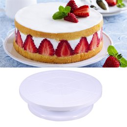 Wholesale Cake Turntable Stand - Cake Decorating Turntable Tools Rotating Cake Stand Sugarcraft Decor Tool Platform Cupcake Cake Plate Kitchen Accessories