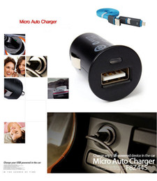 Wholesale Iphone 4s Cable Black - Wholesale- USB Data Cable+Universal Car Charger Mini Adapter For iPhone 5 5S 4S 6 6S Plus For Samsung Galaxy S4 S5 Note 5 4 3 Car-charger