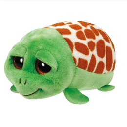 Wholesale Stuffed Green Turtle - Wholesale- 2016 New Tsum Ty Original Teeny Tys Green Turtle Plush Toy 10cm Cruiser Stuffed Animal Doll Cute Birthday gift Kids Toy