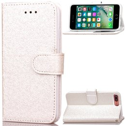 Wholesale Iphone Bling Id - Bling Dazzling Leather Wallet Phone Case Glitter With ID Credit Cards Slot Holder Colorful Back Cover For Iphone7 7Plus Fashionable Design