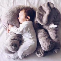 Wholesale Long Nose Animal - 2017 New elephant pillow baby doll children sleep pillow birthday gift INS Lumbar Pillow Long Nose Elephant Doll Soft Plush