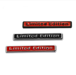 Wholesale A4 B8 - 3D Chrome Metal Limited Edition Stickers Emblem Automobiles Motorcycle Decals Car-Styling For Audi A4 B6 B8 B7 B5 A6 C5 C6 A3 Q5