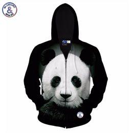 Wholesale Hooded Tops For Women - Hip Hop Autumn winter jacket for men women hoody 3d printed big animal panda hooded hoodies 3d sweatshirts tops