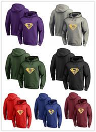 Wholesale Cotton Logos Design - Hot Sales Men's Winter Viking Fans Hoodies, New Design Minnesota Sweatshirts Superman S Logo Picture Print Fashion Tops O-neck Pullover