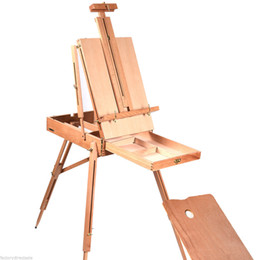 Wholesale Wooden Easels - French Easel Wooden Sketch Box Portable Folding Durable Artist Painters Tripod