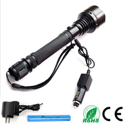 hand held flashlights Promo Codes - Hand hold tactical flashlight CREE XML T6 bicycling equipment bike Torch ridding patrol hunting torch high light 3000Lumens