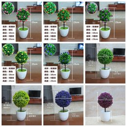 Wholesale Small Potted Artificial Flowers - wholesale 1Pc lot Indoor plants decoration simulation small bonsai plants artificial flower potted bonsai home wedding party decoration118