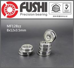 Wholesale flange ball bearings - MF128ZZ Flange Bearing 8x12x3.5 mm ABEC-1 ( 10 PCS ) Miniature Flanged MF128 Z ZZ Ball Bearings