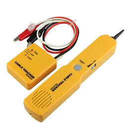 Canada Portabl RJ11 Réseau Téléphone Téléphone Câble Testeur Toner Fil Tracker Tracer Diagnostiquer Tone Ligne Finder Détecteur Outils de Réseautage cheap wire finder tracker Offre