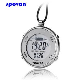 Wholesale Digital Fishing Barometer Watch - Spovan SPV600 Pocket Size Mini Waterproof Swit Sensor Digital Track Fishing Barometer Altimeter Thermometer Multifunction Watch