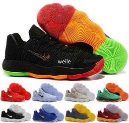 Wholesale Fabric Basket Weaving - 2017 New Hyperdunk Low EP Weave Knit Basketball Shoes For Men Black Metallic Hyperdunks Sports Sneakers Trainers Mens Basket Ball Shoe 7-12