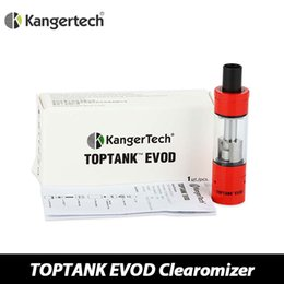 Wholesale Original Kanger Evod Starter Kit - Wholesale- 100% Original Kanger Toptank EVOD Tank Clearomizer 1.7ml Capacity Top e-juice Filling e-cig Atomizer for TOP EVOD Starter Kit