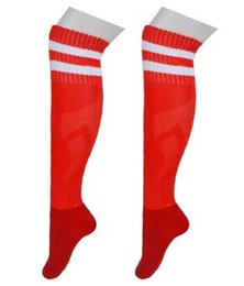 Wholesale Stripe Towel Socks - Football soccer socks stockings thick towel knee football socks long canister light comfort plate stripe socks