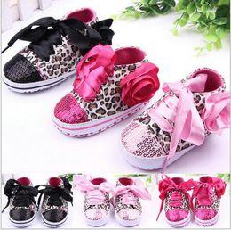 Wholesale Pink Leopard Shoes - Leopard Baby Infant Kids boy Girl Soft Sole Crib Toddler Newborn Shoes 0-18 mont