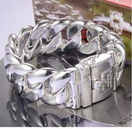 Wholesale Buddha Fashion Bangle - Netherland Bangle fashion men big size 925 silver link chain silver chain buddha to buddha bracelet Chirstmas Gift Wholesale