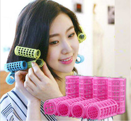 Wholesale Hair Style Curler Magic - Hot Plastic Hair Rollers Hair Curlers DIY Hair Salon Curlers Rollers Tool Soft Hairdressing Tool Twist Styling 6 8 10 12pcs