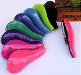 Wholesale Hair Plastic Salon - Plastic Antistatic Comb Magic Detangling Hair Brush Comb Professional Massage Hair Comb Salon Styling Tool Hair Brush