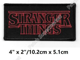 """Wholesale friends tv series - 4"""" Stranger Things Inspired Patches TV Movie Film Series Costume Embroidered iron on Costume Cosplay Friends Don't Lie badge diy patch"""