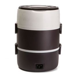 Boîte à lunch deux couches en Ligne-1.6L Mini cuiseur à riz deux / trois couches multifonctionnel isolation plug-in chauffage électrique cuisine boîte à lunch
