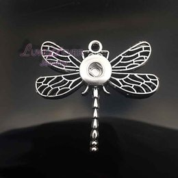 Wholesale Direction Necklace - dragonfly High Quality 032 Snap Button Pendant Necklace Fit 18mm Buttons For Women Charm Interchangeable jewelry keychain one direction