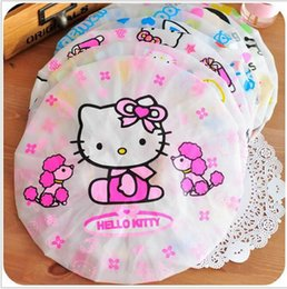 Wholesale Shower Cap Child - Mix style Cute Shower Bathing Cap Hat Shower caps Hair cap bath cap Plastic shower cap Bathing Children casquette bain