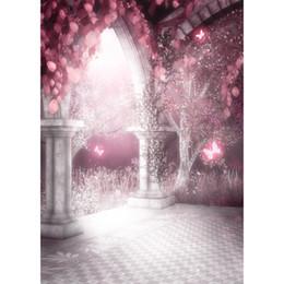 фотографии фоны бабочки Скидка 5x7ft фантазия сказка бабочка деревья новорожденных детей фотографии фонов сверкают замок свадебный фон фоны для фотостудии