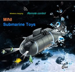 Wholesale Remote Toys For Water - Wholesale- Amazing mini rc nuclear submarine toys for children child gift radio wireless radio remote control summer water board toys