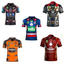 Wholesale Patriots Jersey Xl - 2017 18 New Zealand rugby Jersey Newcastle Knights Iron Patriot Brisbane Broncos Iron Man Melbourne Storm Thor Wests Tigers Sea Eagles North
