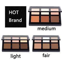 Wholesale Full Cream Powder - NEW Brand Pro Series Concealer Contour Cream Bronzer Highlighter Concealer Powders Shade Light Medium To Tan Light   Medium  deep