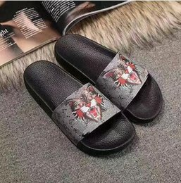 Wholesale Sandals Men Pu - new men and women's Casual sandals boys and girls summer outdoor beach brand Slippers shoes with tiger print