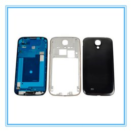 Wholesale S4 Full Case - New Full Housing Cover Case Replacements for Samsung Galaxy S4 SIV i9500 i9505 i337 Middle frame Bezel with Side Buttons + Home Buttons