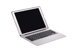 Wholesale Thinnest Ipad Keyboard - 2017 Hot clamshell aluminum case with LED backlight and power bank Ultra Thin Aluminum Wireless Bluetooth Keyboard Case