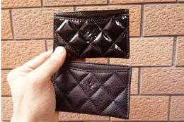 Wholesale Vip Card Holder - Top selling card holder bag classic pattern black PU coat bag for card VIP gift with famous logo