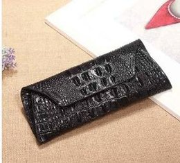 Wholesale Wall Compartments - Best Selling Hot Women Wallet Female Coin Purses Holders Genuine Leather 3D Embossing Alligator Ladies Crocodile Long Clutch Wall