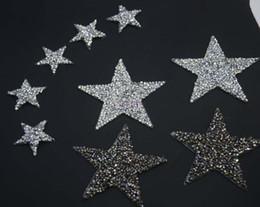 Canada Bling design de star design cristal hotfix strass motifs fer sur transfert strass patchs appliques pour vêtement chaussure 10pcs / lot Offre