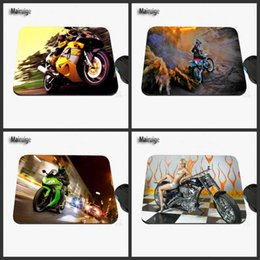 Wholesale Motorcycle Race Games - Motorcycle Racing Driver's Excellent Custom Printed Design for the Sliding Rectangular Rubber Notebook Computer Game Mouse Pad