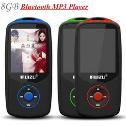Wholesale Free Walkman - Wholesale- 100% Original RUIZU X06 8GB Bluetooth mp3 player 1.8 Inch 100Hr High Quality Lossless Recorder FM Radio Walkman + Free Lanyard